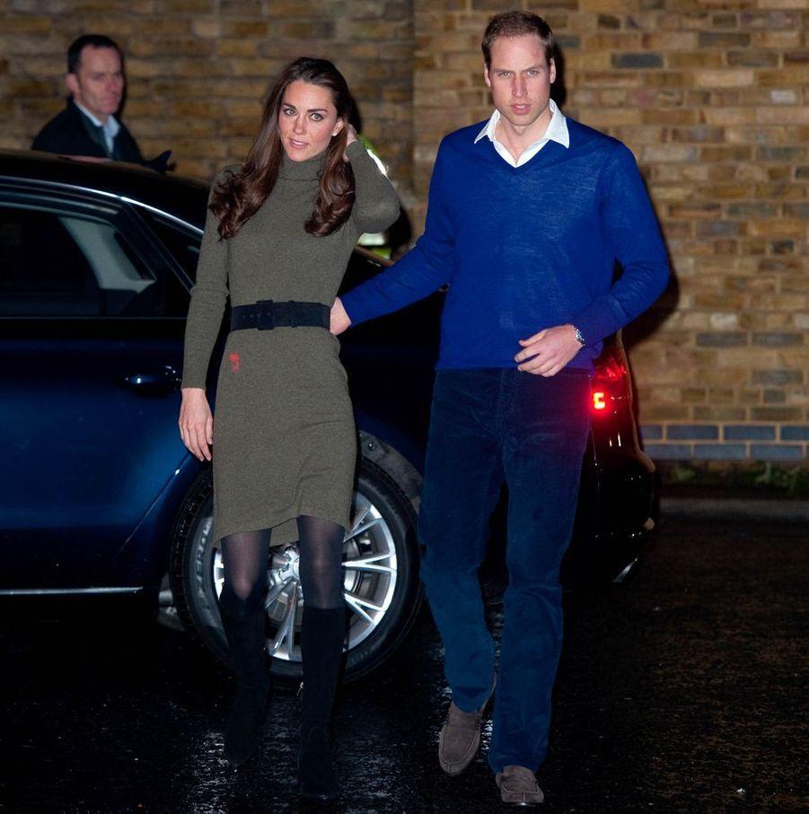 Kate Middleton et le prince William à Camberwell en décembre 2011