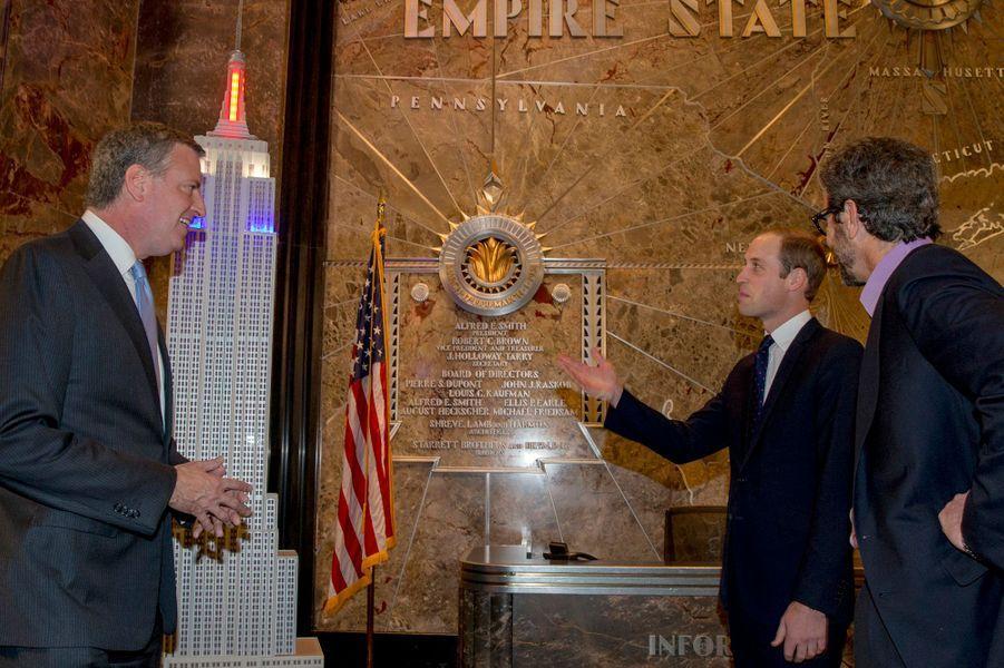 Le prince William à l'Empire State Building à New York, le 9 décembre 2014