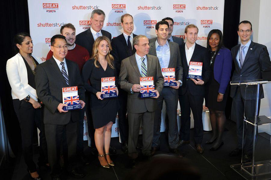 Le prince William à la remise des GREAT Tech Awards à New York, le 9 décembre 2014
