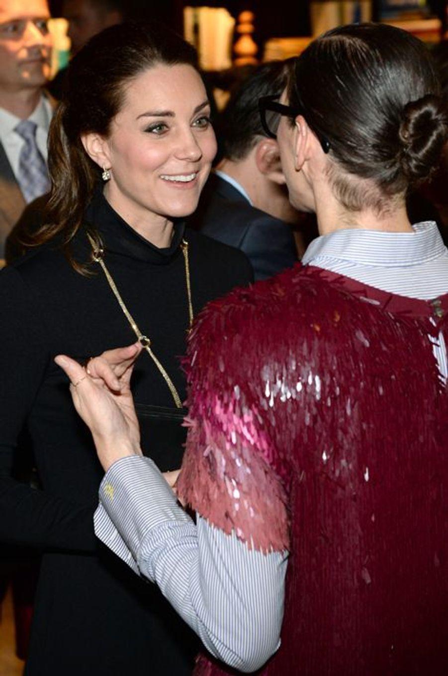 Le prince William et Kate rencontrent des talents britanniques à New York, le 9 décembre 2014