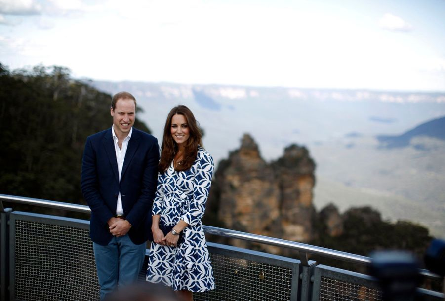 William et Kate, sages, dans les Blue Mountains à l'ouest de Sydney, le 17 avril 2014.