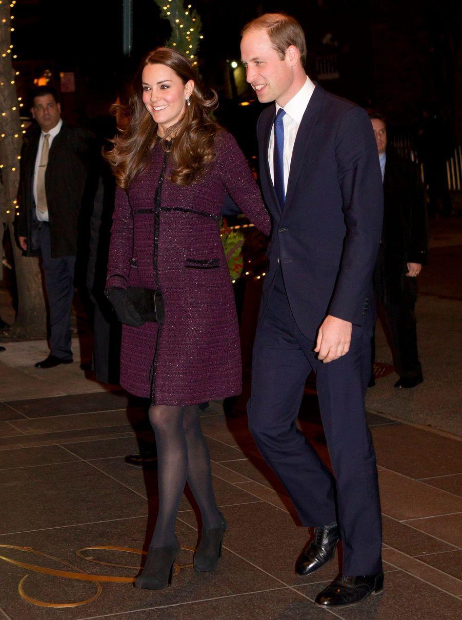 Kate et William,bras dessus, bras dessous, à New York, le 7 décembre 2014.