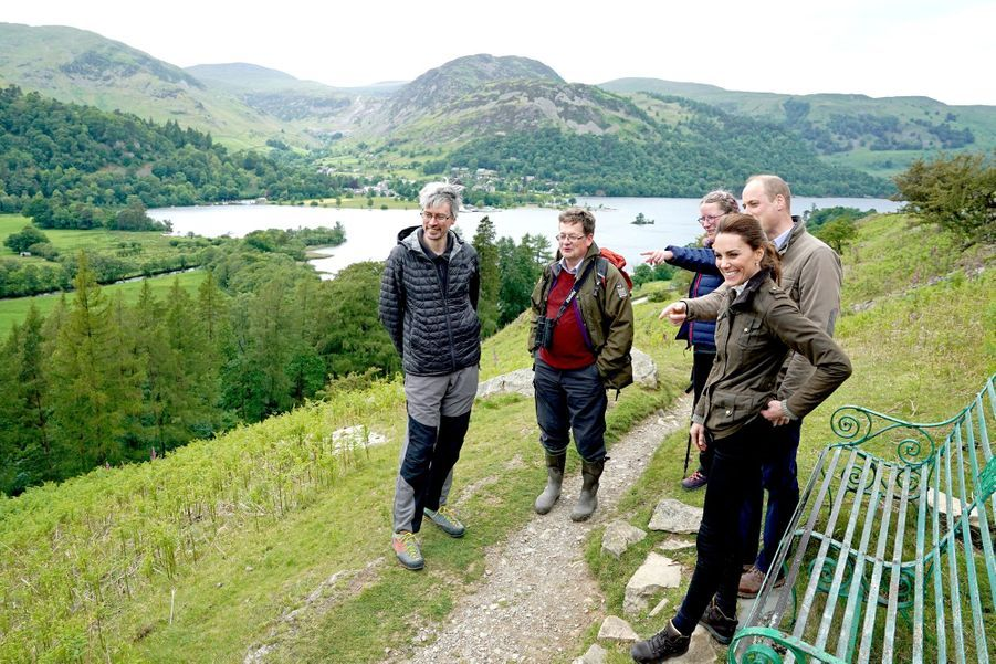 Kate Middleton et le prince William à Cumbria, le 11 juin 2019