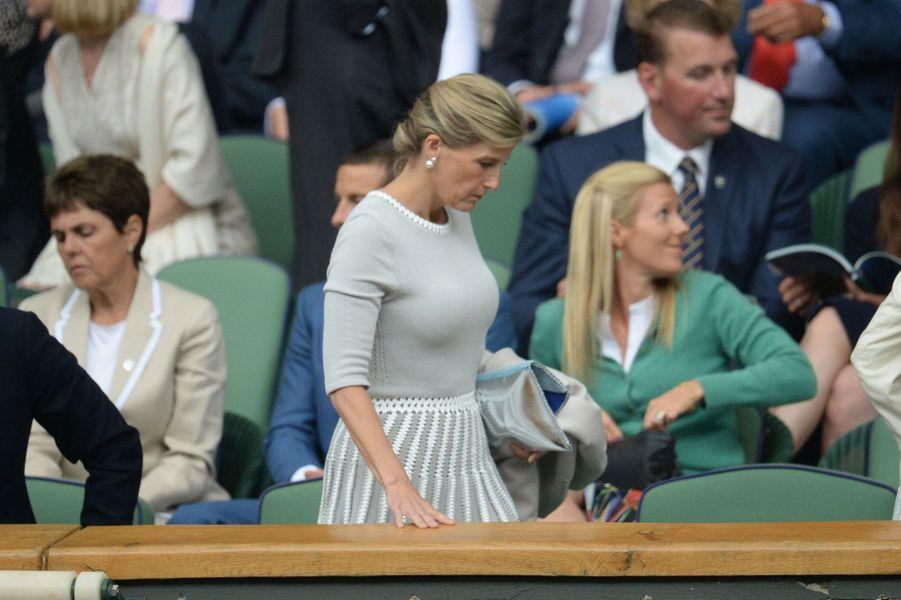 La comtesse Sophie de Wessex à Wimbledon, le 8 juillet 2015