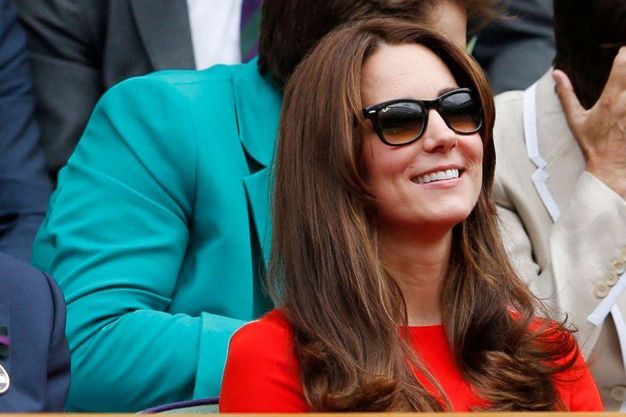 La duchesse Kate à Wimbledon, le 8 juillet 2015