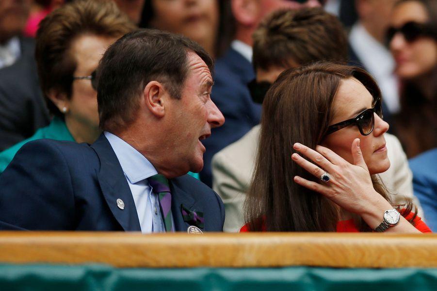 Le duchesse Kate à Wimbledon, le 8 juillet 2015