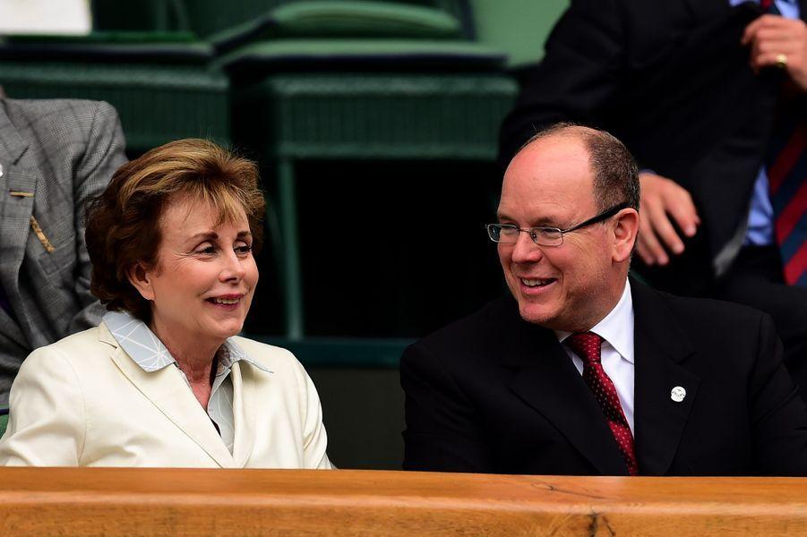 Le prince Albert II de Monaco à Wimbledon, le 8 juillet 2015