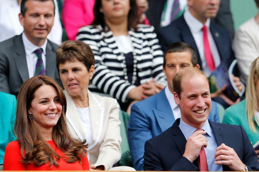 Le prince William et Kate à Wimbledon, le 8 juillet 2015
