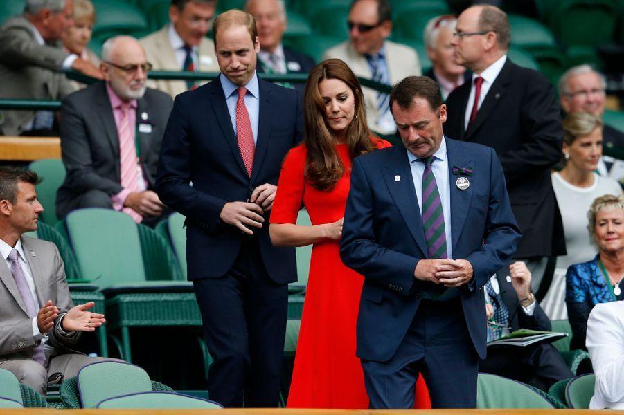 Le prince William et Kate, avec le prince Albert et Sophie de Wessex, à Wimbledon, le 8 juillet 2015