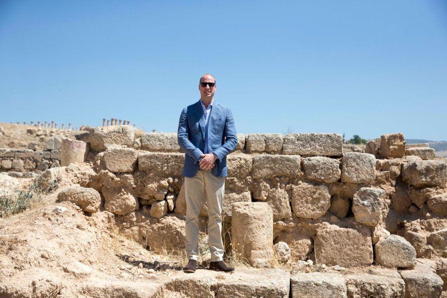 Le Prince William Et Le Prince Hussein De Jordanie En Visite Sur Le Site Archéologique De Jerash En Jordanie, Le 25 Juin 2018 ( 11