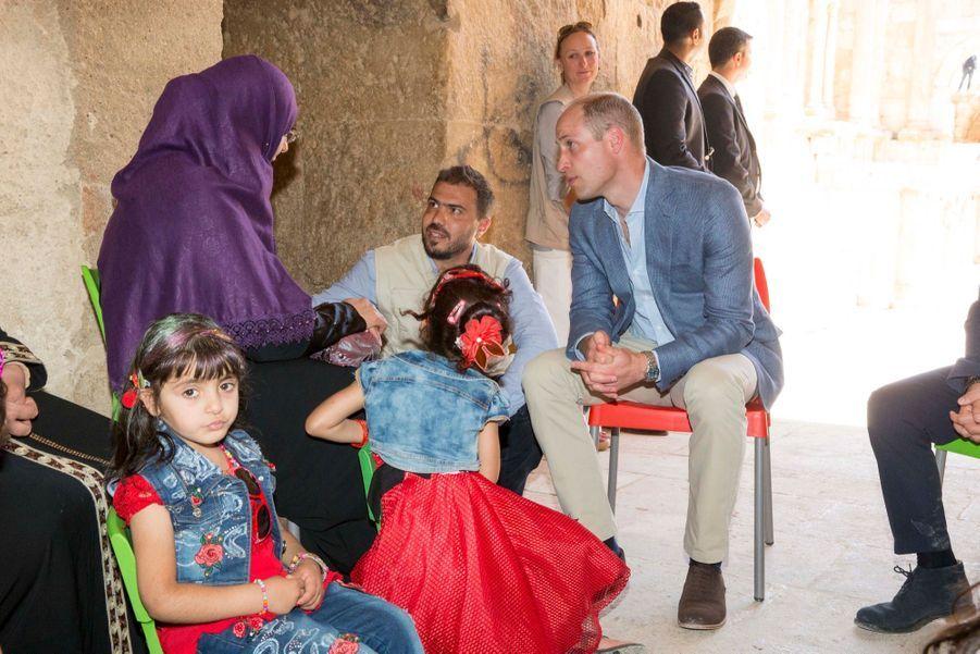 Le Prince William Et Le Prince Hussein De Jordanie En Visite Sur Le Site Archéologique De Jerash En Jordanie, Le 25 Juin 2018 ( 13