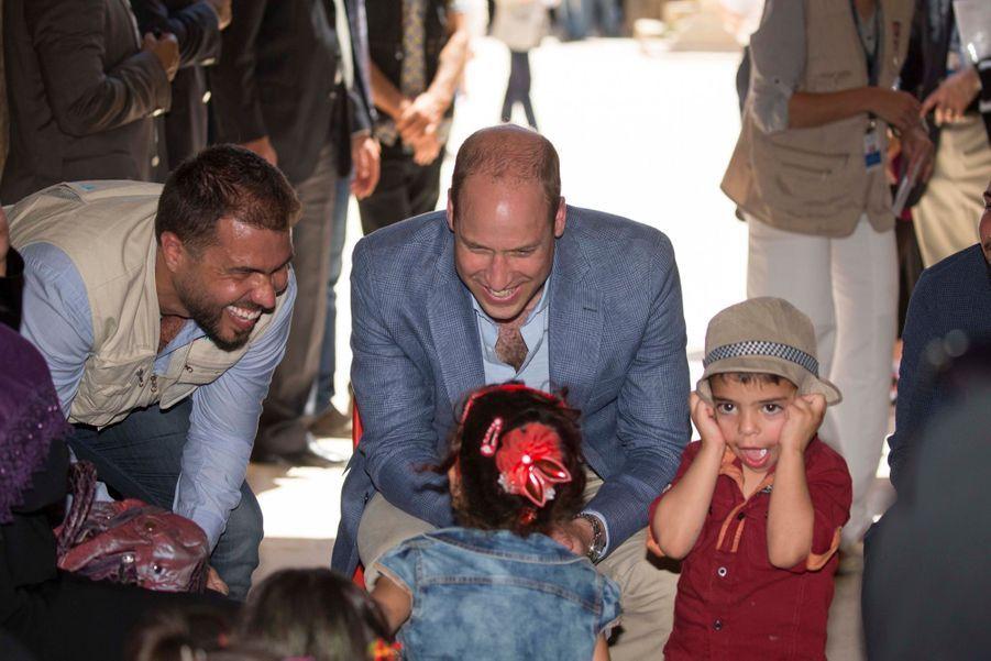 Le Prince William Et Le Prince Hussein De Jordanie En Visite Sur Le Site Archéologique De Jerash En Jordanie, Le 25 Juin 2018 ( 14