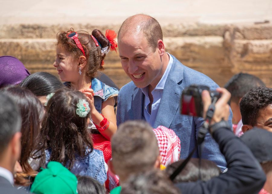 Le Prince William Et Le Prince Hussein De Jordanie En Visite Sur Le Site Archéologique De Jerash En Jordanie, Le 25 Juin 2018 ( 6