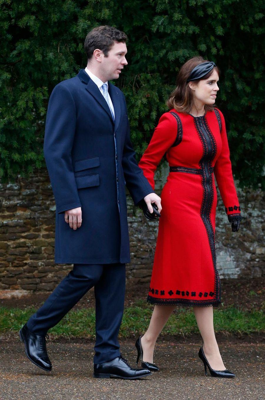La princesse Eugenie d'York à Sandringham, le 25 décembre 2018