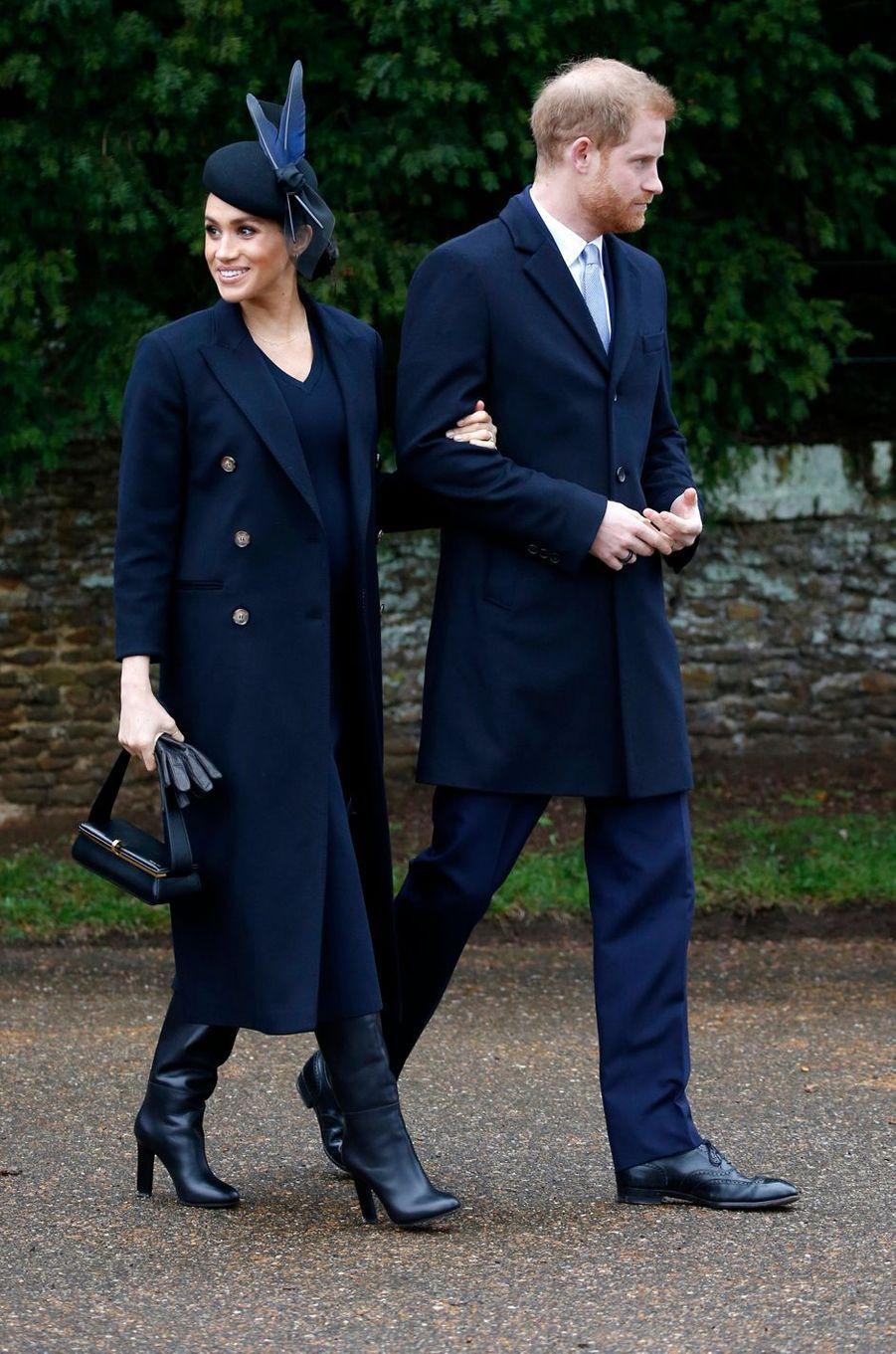 Meghan Markle, la duchesse de Sussex, à Sandringham le 25 décembre 2018