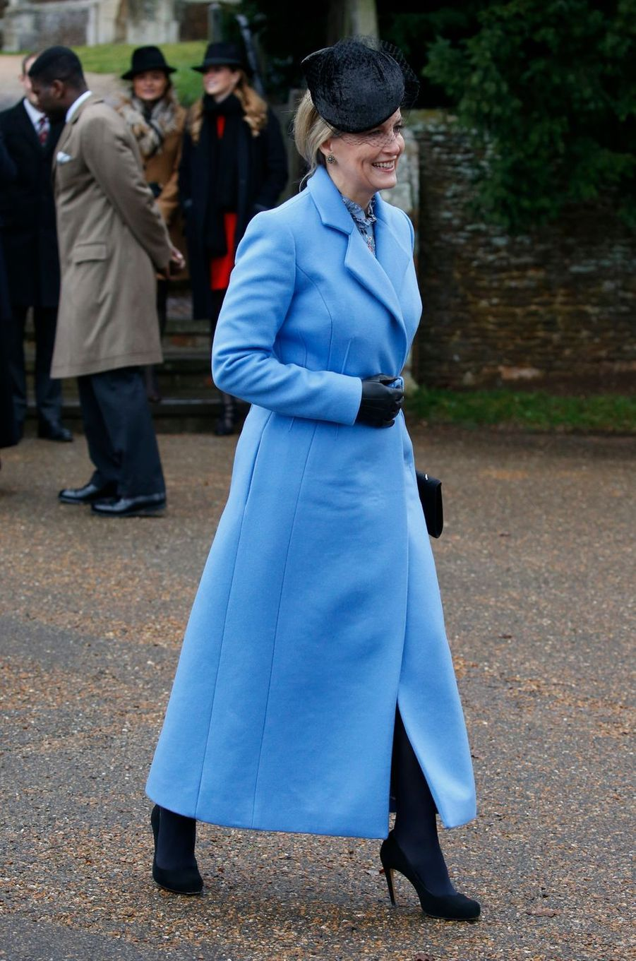 La comtesse Sophie de Wessex à Sandringham, le 25 décembre 2018