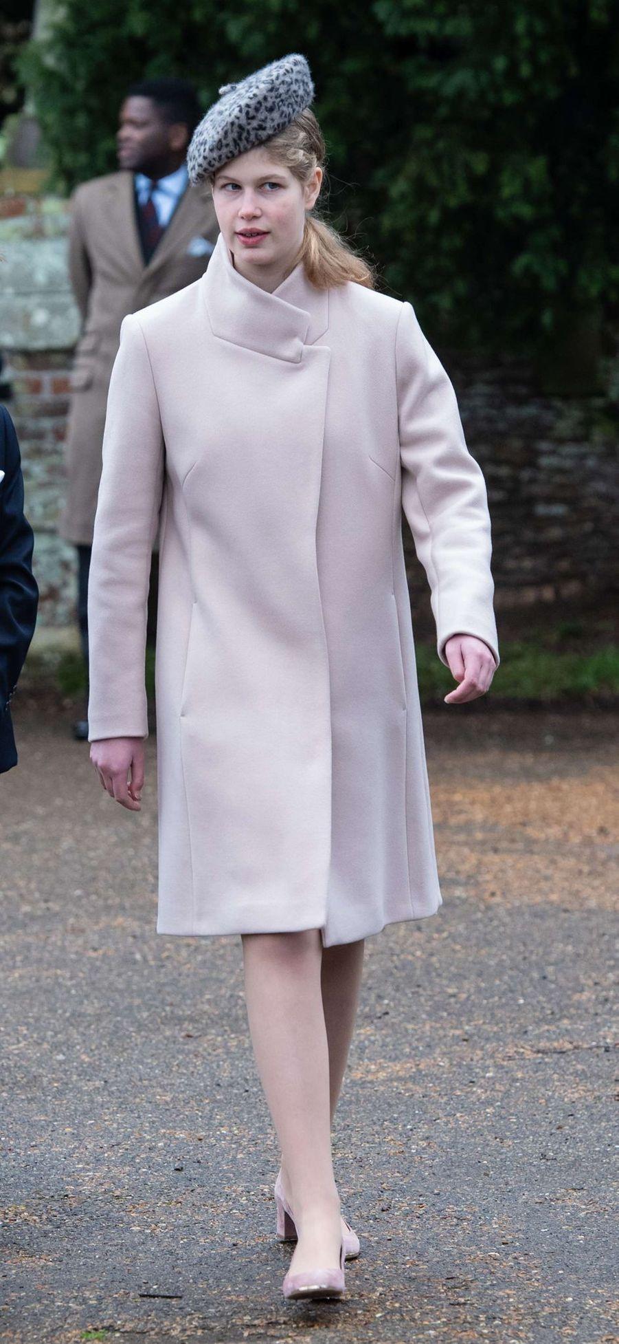 Lady Louise Windsor à Sandringham, le 25 décembre 2018