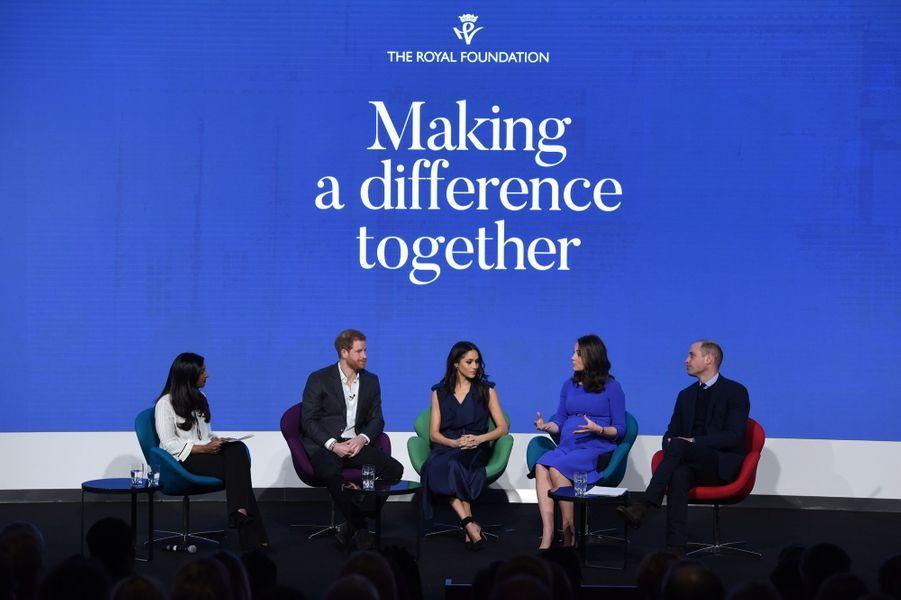 Kate Middleton, Meghan Markle, Harry Et William Lancent Le Premier Forum Annuel De Leur Royal Foundation 11
