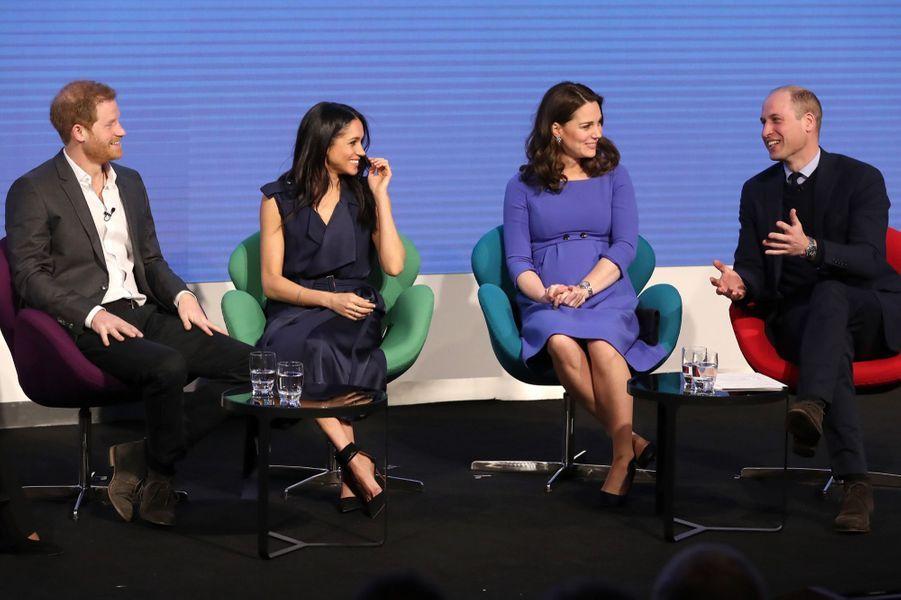 Kate Middleton, Meghan Markle, Harry Et William Lancent Le Premier Forum Annuel De Leur Royal Foundation 18
