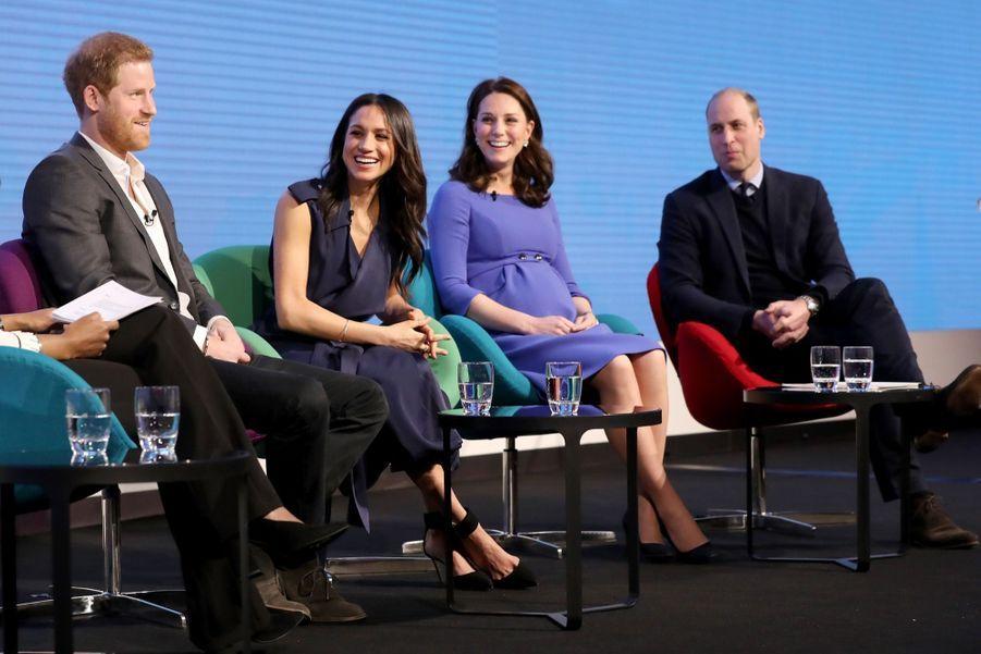 Kate Middleton, Meghan Markle, Harry Et William Lancent Le Premier Forum Annuel De Leur Royal Foundation 24