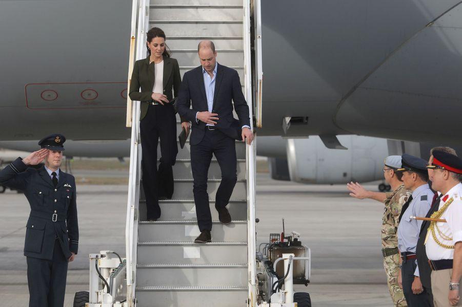 La duchesse Catherine de Cambridge et le prince William, à Chypre le 5 décembre 2018