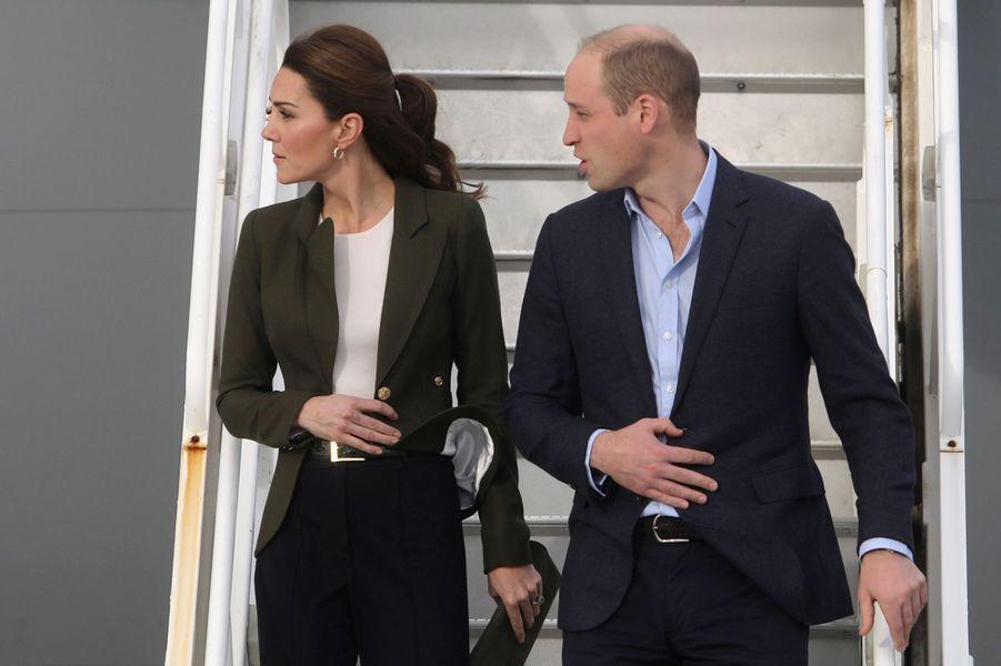Kate Middleton, duchesse de Cambridge, et le prince William, à leur arrivée à Chypre le 5 décembre 2018