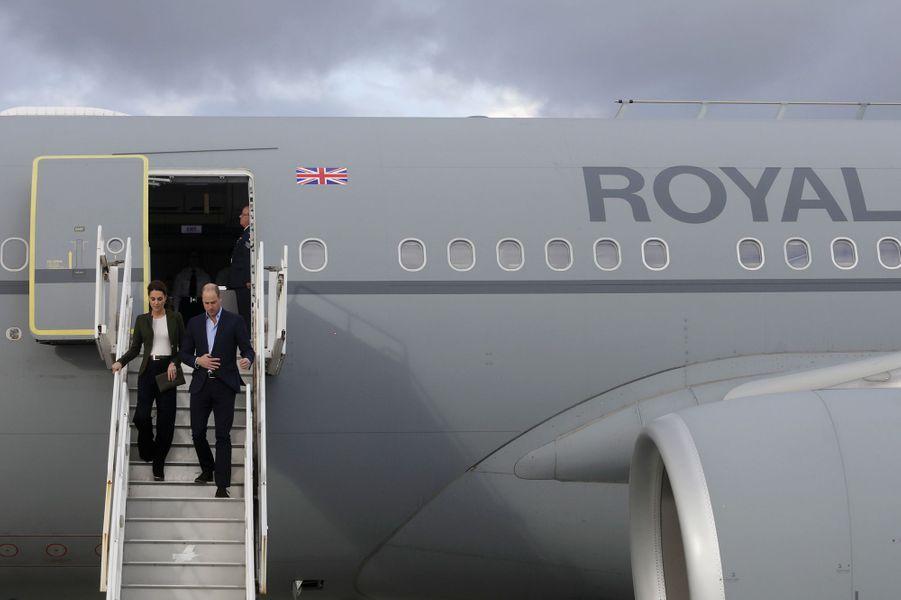 Kate Middleton, duchesse de Cambridge, et le prince William, arrivent à Chypre le 5 décembre 2018
