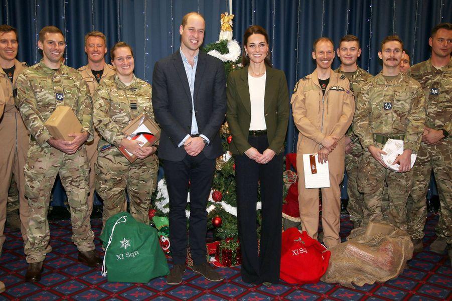 Kate Middleton, duchesse de Cambridge, et le prince William, à Chypre le 5 décembre 2018