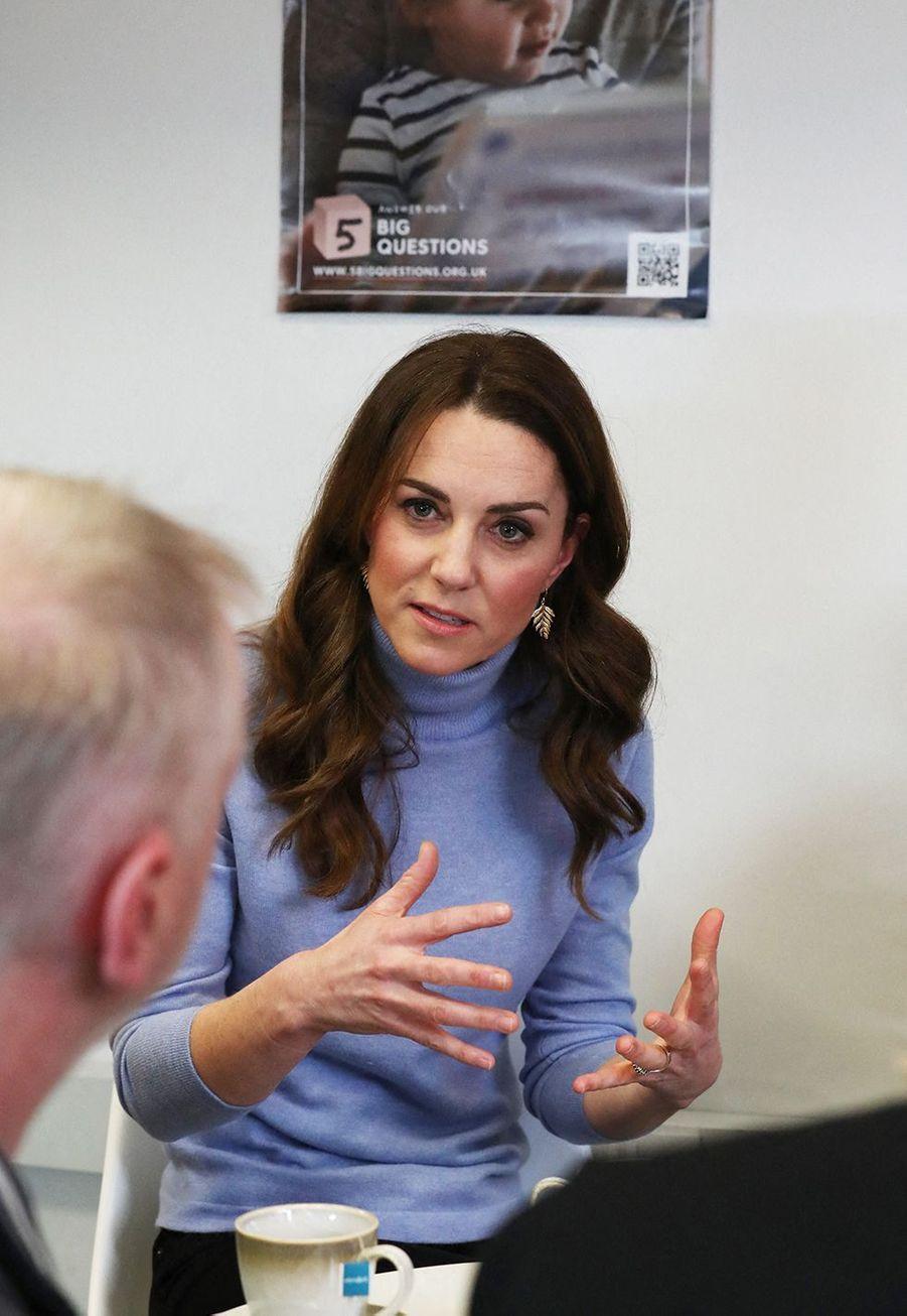 Kate Middleton en visite àAberdeen, en Ecosse, le 12 février 2020