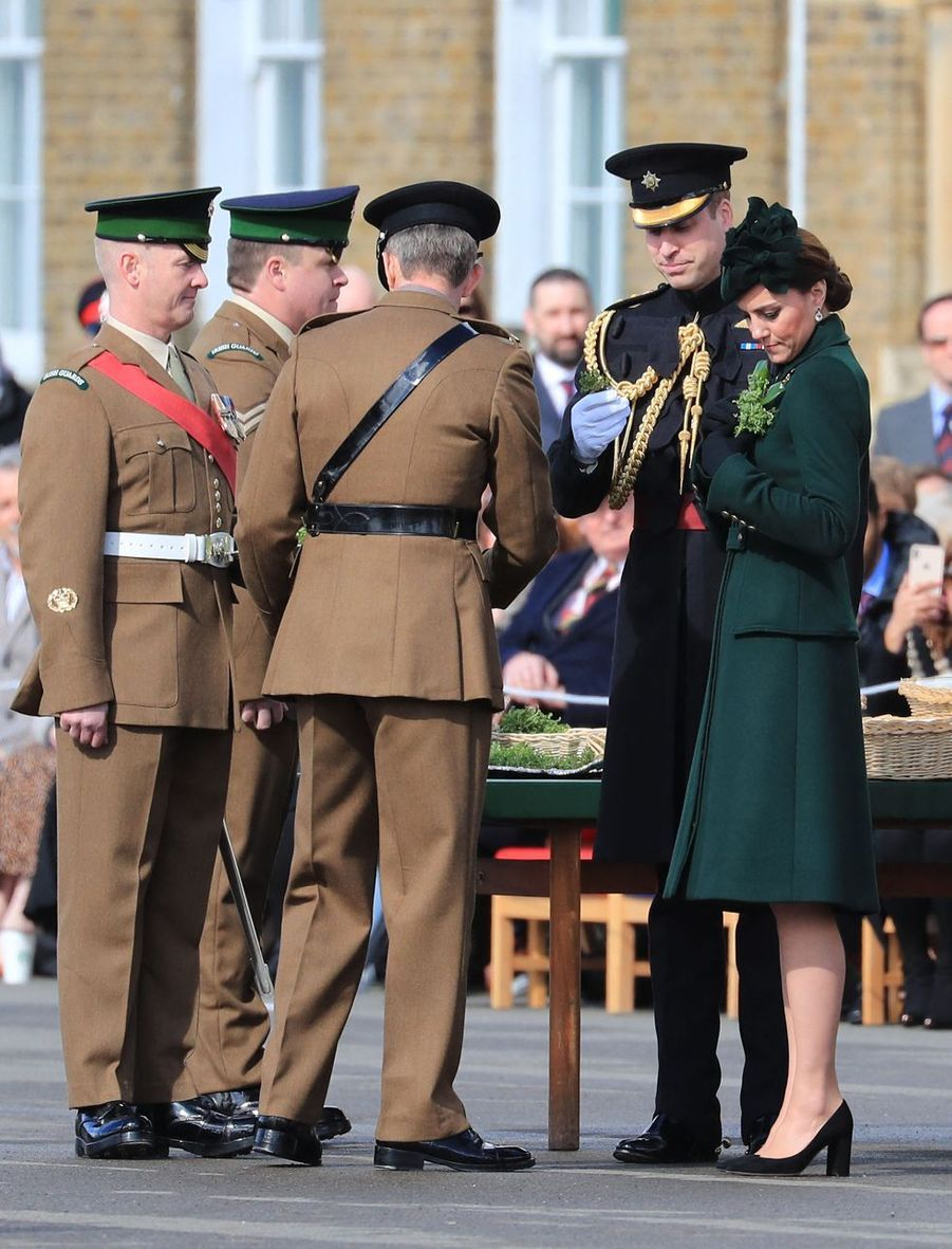 Le prince William et Kate Middleton lors des célébrations de la Saint-Patrick à Londres le 17 mars 2019