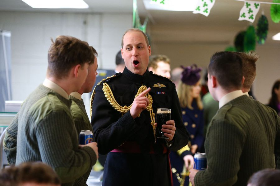 Le prince William lors des célébrations de la Saint-Patrick à Londres le 17 mars 2019