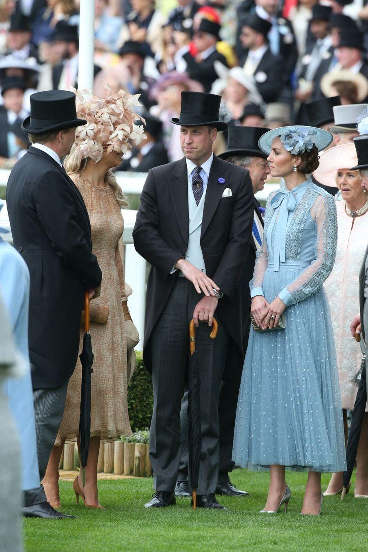 Le prince William et Kate Middleton au Royal Ascot dans le Berkshire le 18 juin 2019
