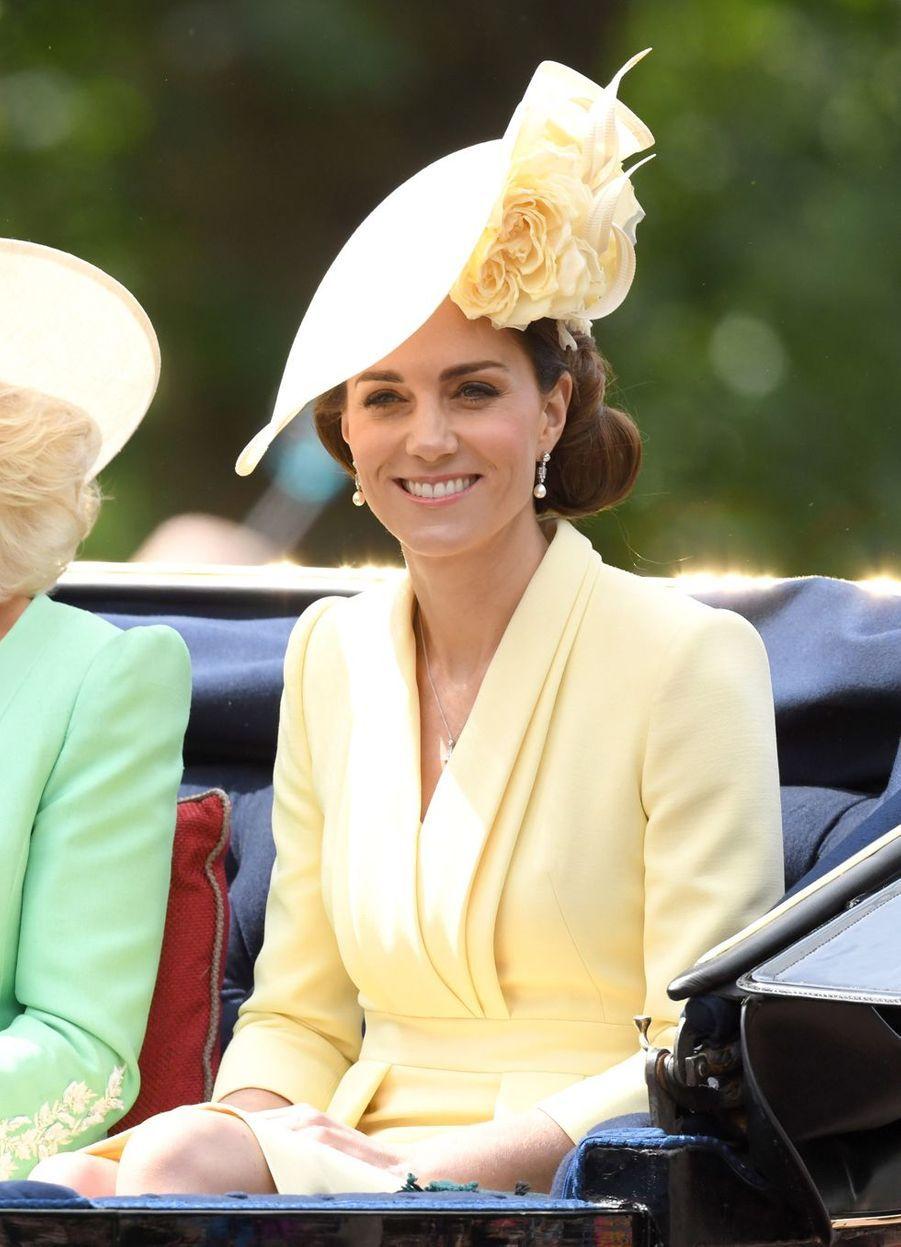 Kate Middleton lors de la parade Trooping the Colour le 8 juin 2019
