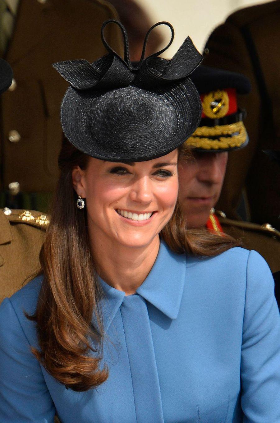 Kate Middleton à Arromanches en Normandie le 6 juin 2014