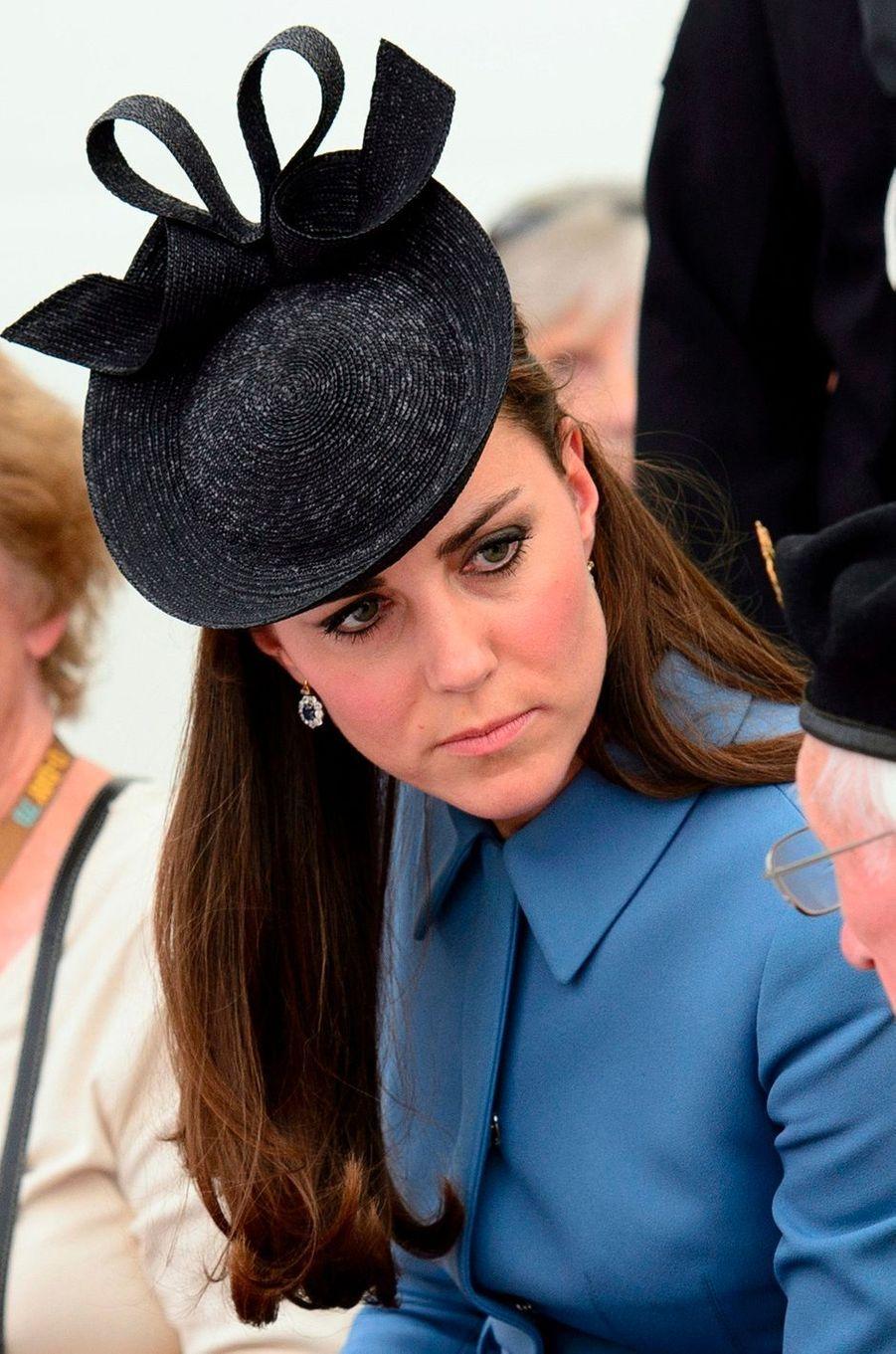 La duchesse Catherine de Cambridge à Arromanches en Normandie le 6 juin 2014