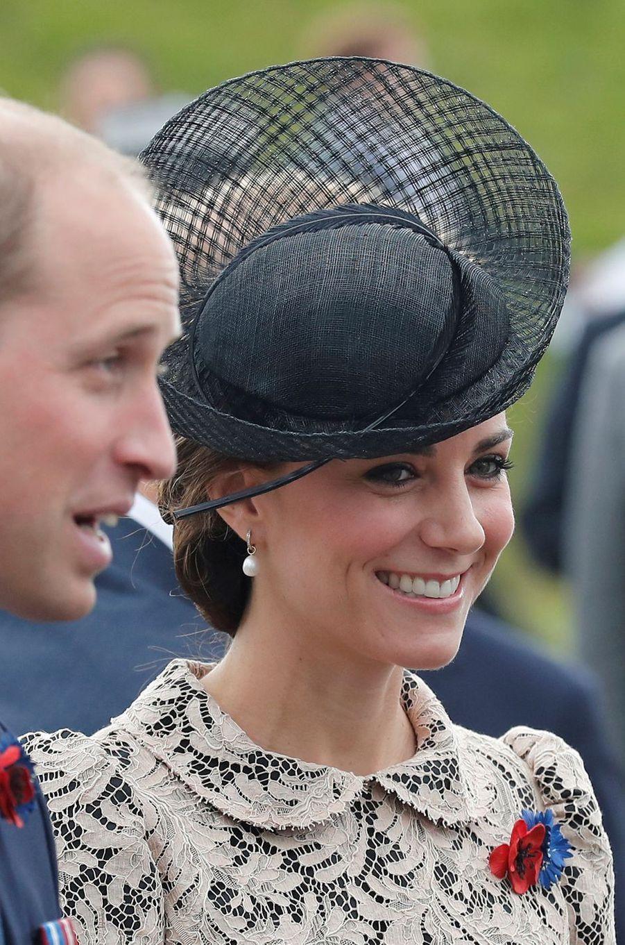 La duchesse de Cambridge, née Kate Middleton, à Thiepval en Picardie le 1er juillet 2016