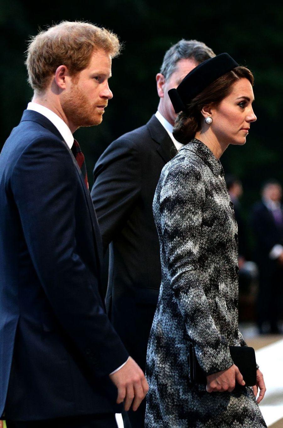 La duchesse de Cambridge, née Kate Middleton, à Thiepval en Picardie le 30 juin 2016