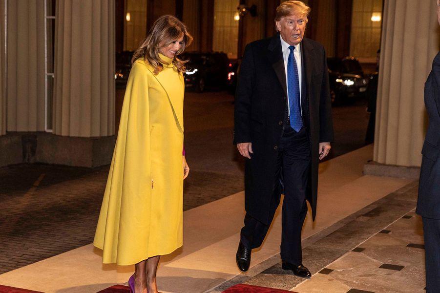 Donald et Melania Trump se rendentà Buckingham Palace lors du70ème anniversaire du Sommet de l'OTANà Londres le 3 décembre 2019