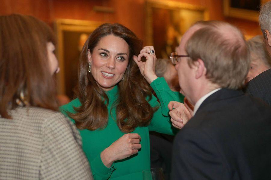 Kate Middleton à la réceptionde la reine Elizabeth II à Buckingham Palace lors du70ème anniversaire du Sommet de l'OTANà Londres le 3 décembre 2019