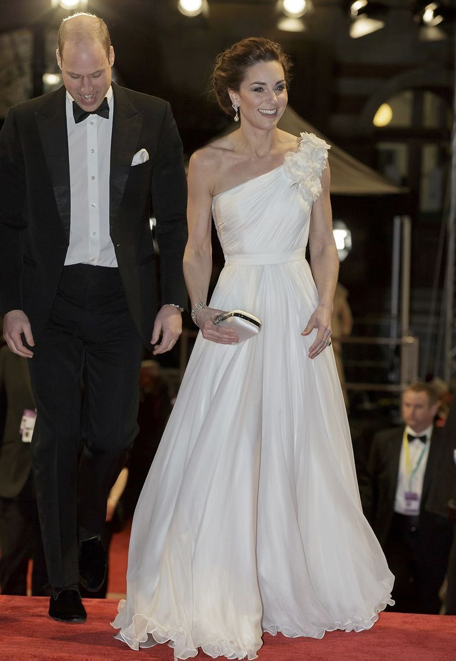 Kate Middleton (en Alexander McQueen) aux British Academy Film Awards au Royal Albert Hall à Londres le 10 février 2019