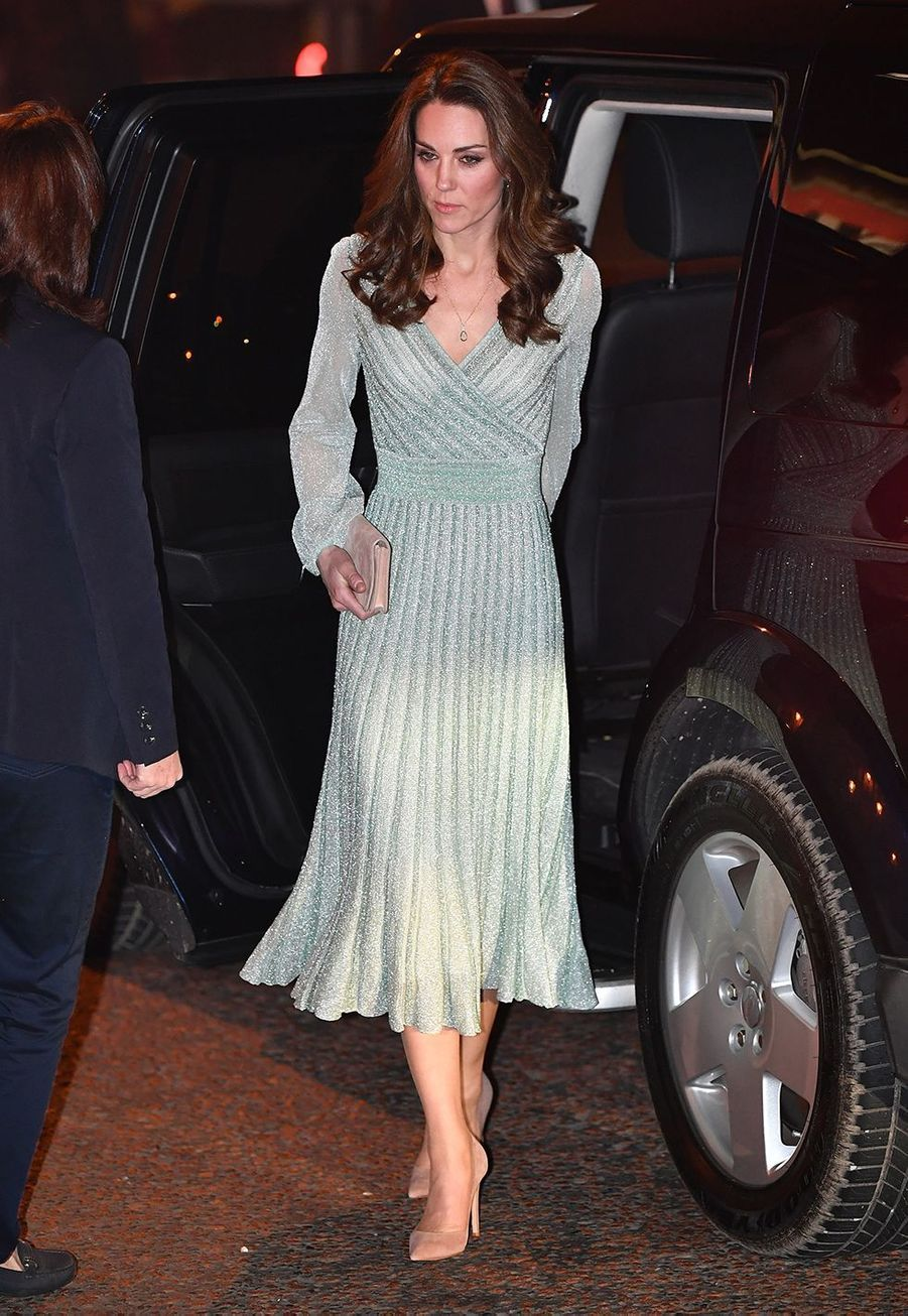 Kate Middleton (en Missoni) en visite à l'Empire Music Hall à Belfast le 27 février 2019