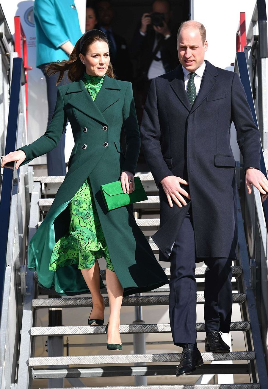 Kate Middleton et le prince William à l'aéroport de Dublin le 3 mars 2020