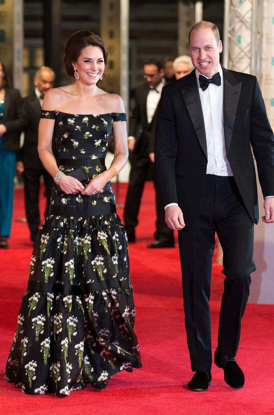La duchesse Catherine de Cambridge en Alexander McQueen le 12 février 2017