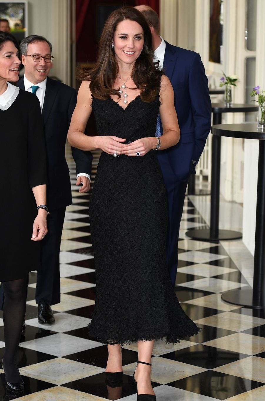 La duchesse Catherine de Cambridge en Alexander McQueen le 17 mars 2017
