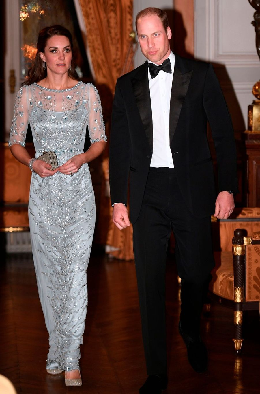 La duchesse Catherine de Cambridge en Jenny Packham le 17 mars 2017