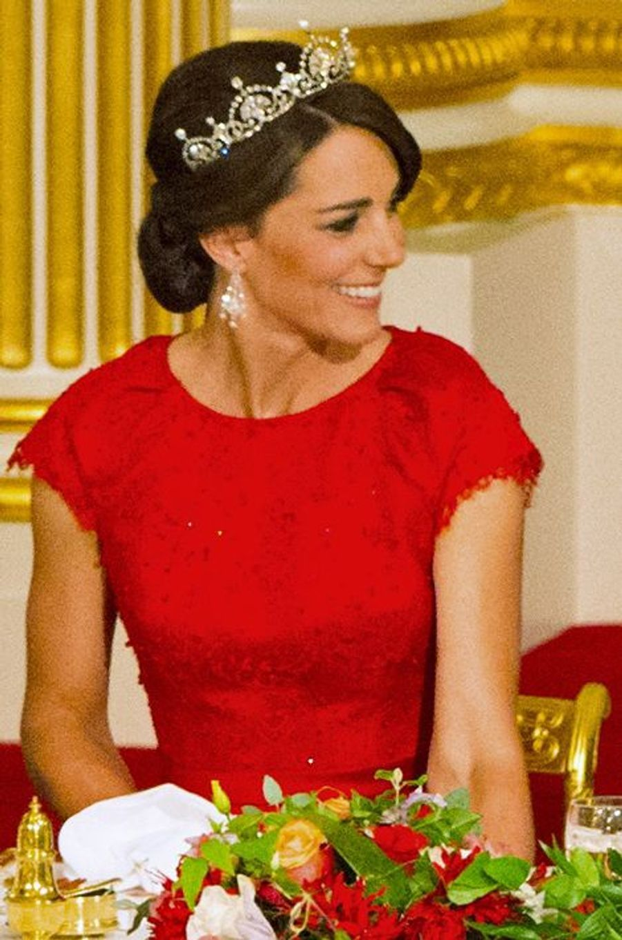 La duchesse de Cambridge Kate à Buckingham Palace, le 20 octobre 2015