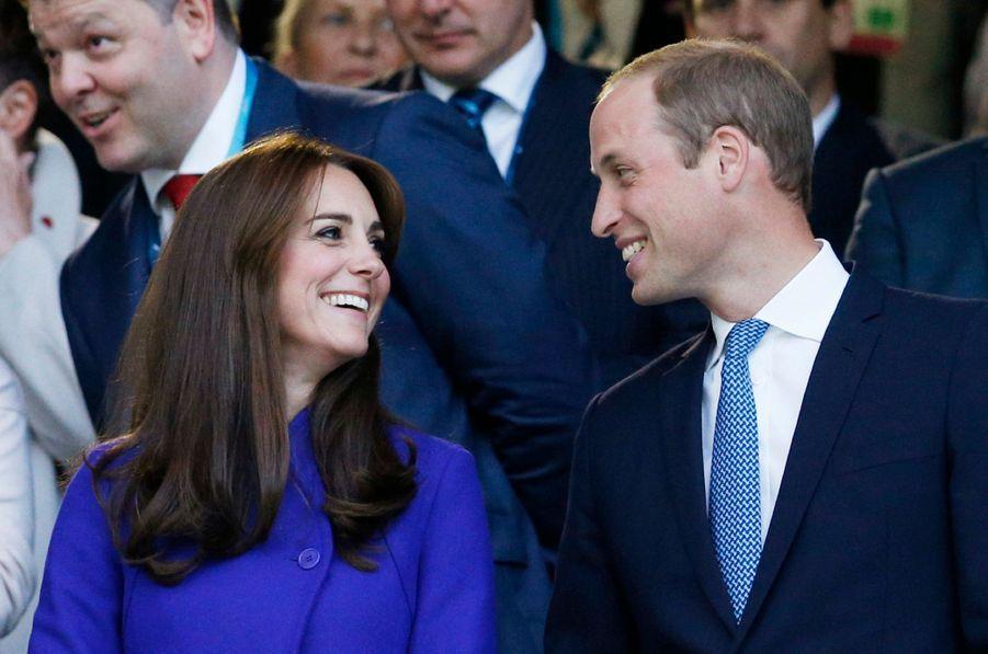 La duchesse de Cambridge, née Kate Middleton, à l'ouverture de la Coupe du monde de Rugby, le 18 septembre 2015