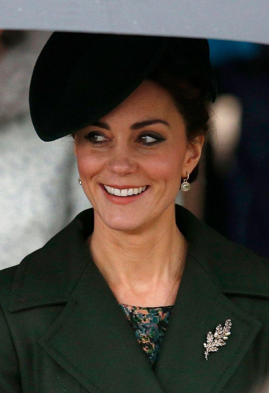 La duchesse de Cambridge, née Kate Middleton, à la messe de Noël de Sandringham, le 25 décembre 2015