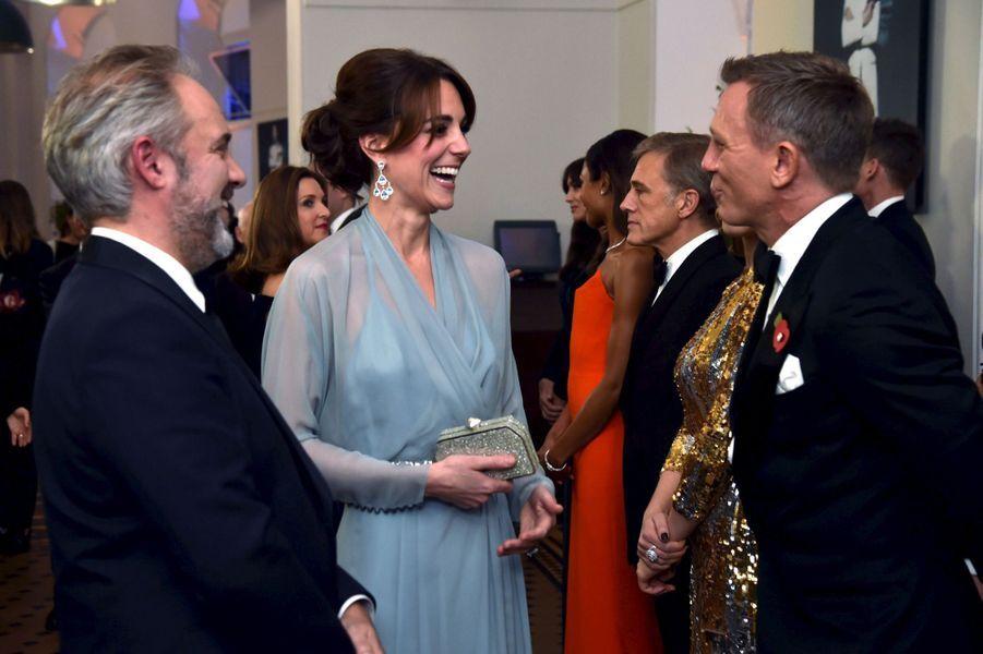 La duchesse de Cambridge, née Kate Middleton, à la première du dernier James Bond, le 26 octobre 2015