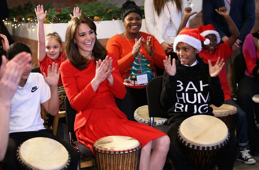 La duchesse de Cambridge, née Kate Middleton, au Anna Freud Centre, le 15 décembre 2015